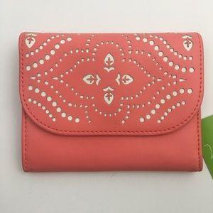 Vera Bradley Coral Faux Leather Wallet